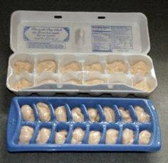FOR DOGS- FROSTY PAWS! Homemade dog treats. 32 oz. plain yogurt,1 mashed ripe banana, 2 tablespoons peanut butter,2 tablespoons honey Mix ingredients together and freeze in an empty egg carton or ice cube tray. Much cheaper than the expensive fresh treats in stores! From Let Your Light Shine on FB