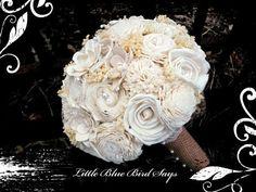 Hey, j'ai trouvé ce super article sur Etsy, chez https://www.etsy.com/ca-fr/listing/229998268/rustic-bridal-bouquet-sola-bouquet
