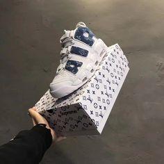 wholesale dealer 854db 99763 Louis Vuitton x Supreme x Nike air more Uptempo denim Air Max 180, Nike Air