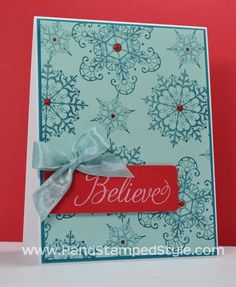 Snowflake Soiree Sneak Peak Sampler Stamping Class by Erin with Hand Stamped Style http://www.facebook.com/handstampedstyle this creative class will leave you with adorable cards and a few techniques under your belt.