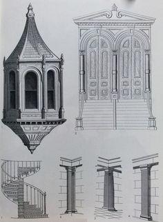 창문, 문, 기둥