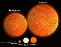 ¿Sabías que la estrella Betelgeuse, de la constelación de Orión, es 800 veces más grande que nuestro sol?