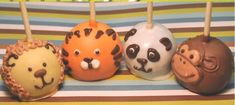 Animals Brownie Pops - The Lion Pop would look so cute for a circus themed party