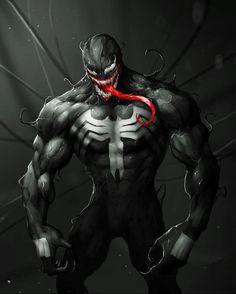 "You are watching the movie Venom on Putlocker HD. When Eddie Brock acquires the powers of a symbiote, he will have to release his alter-ego ""Venom"" to save his life. Venom Comics, Marvel Venom, Marvel Villains, Marvel Art, Marvel Comics, Marvel Avengers, Venom 2018, Spiderman, Venom Art"
