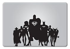 The Justice League Apple Macbook Decal Vinyl Sticker Apple Mac Air Pro Retina Laptop sticker Macbook Stickers, Macbook Decal, Laptop Decal, Mac Laptop, Laptop Skin, Apple Stickers, Xbox Console, Apple Mac, Laptop Accessories