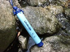 This is the LifeStraw, a personal water filter that can convert non-drinking, and contaminated water instantly to fresh drinking water . Ideal for camping, hiking, and a great companion if faced with emergency conditions. It's lightweight and compact, so it's an easy addition to your go-bag or your camping backpack. The filter can be used for up to 264 gallons of water. It's really easy to use--just put the lower part of the straw into whatever water you would like to drink and sip.