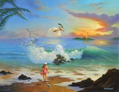 Through the Eyes of a Child * Artist Jim Warren Fantasy Myth Mythical Mystical Legend Whimsy Hidden Surreal Nature