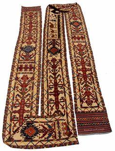 orient Turkmen kelim Teppich  Zeltband - Tent band Rarität rare rug turkmenistan