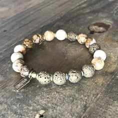 Jasper and Lava Stone Essential Oil Diffuser Bracelet
