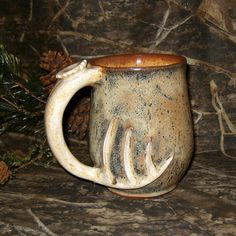 deer hunting stoneware ceramic mug coffee cup by EarthElements, $34.00