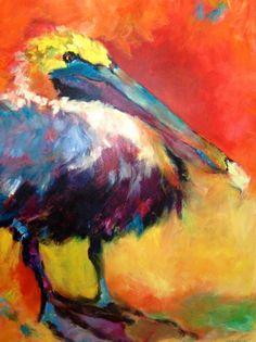 L is for Lovegrove Gallery & Gardens Paintings I Love, Animal Paintings, Pelican Art, Art Vintage, Nautical Art, Bird Drawings, Beach Art, Acrylic Art, Bird Art