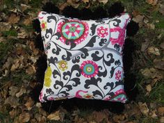 A personal favorite from my Etsy shop https://www.etsy.com/listing/232162509/pom-pom-pillow-18-l-x-18-w-la-menagerie