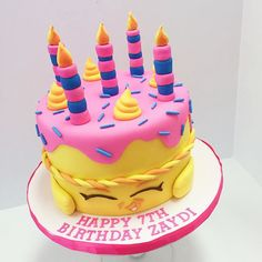 Shopkins cake for Zaydi! She's so cute! happybirthday birthdaycake cake repice
