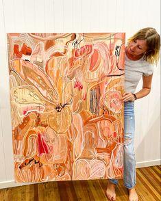 Floral Fawn by Carley Bourne Painting Inspiration, Art Inspo, Australian Art, Modern Art, Contemporary Artwork, Aboriginal Art, Acrylic Art, Art Studios, Love Art