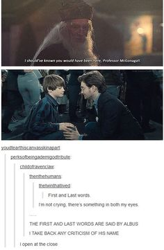 """""""I open at the close"""" First and last words said by Albus!! 9 MORE Times Harry Potter Perfectly Resonated with Tumblr Users 