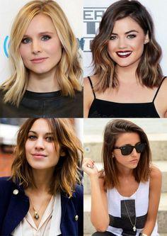 Simple Everyday Hairstyle for Short Hair: Women Haircuts | Bob, Long Bob = Lob, Wave Bob = Wob Corte de Cabelo Curto Famosas 2015