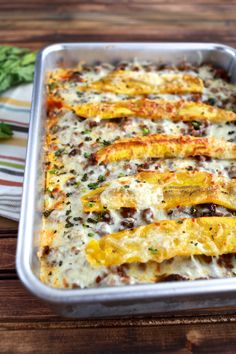 Pastelon (Sweet Plantain Lasagna) | TheNoshery.com @TheNoshery