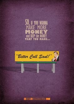 """A Designer Created These Amazing """"Breaking Bad"""" Posters For Every Episode Of The Show. Saul Goodman, possibly my favourite character from the show because he's the only comic relief! Breaking Bad Poster, Breaking Bad Art, Aaron Paul, Bryan Cranston, Breaking Bad Episodes, Breking Bad, Spoiler Alert, Illustrator, Movies And Series"""