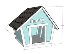Crooked Doghouse Plans - for my future Westie. Insulated, of course.