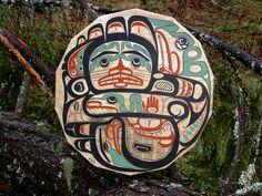Native American Art and Alaskan Native art - Art Gallery - native american drum  http://www.alaskanativeartists.com