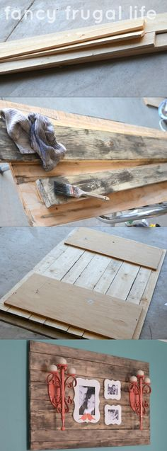 DIY Faux Barn Wood Wall Art
