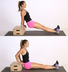 Pin for Later: This No-Equipment Workout Sculpts Sexy Arms Fast Tricep Dips Arm Toning Exercises, Triceps Workout, Fitness Exercises, Belly Exercises, Weight Exercises, Training Exercises, Circuit Training, Fat Workout, Workout Tips