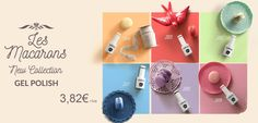 New Collection / Nova Coleção Verniz Gel ANDREIA. { Les Macarons } ⍝ Baunilha | ⍝ Morango | ⍝ Pistácio | ⍝ Menta | ⍝ Lavanda e ⍝ Rosa Bombom ♥ | **NOVO PREÇO** 3,82€ | www.INFINITA.pt