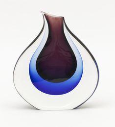 Salviati & Company, Vase, 1960. Murano, Italy. Via Cooper Hewitt