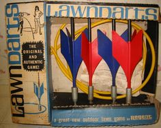 Lawn Darts- Why did Grandma trust us with these things? lol I wish she would mail these to me. They made great memories for trips to her house as a kid! 1960s Toys, Retro Toys, Vintage Toys, 1970s, My Childhood Memories, Great Memories, School Memories, 90s Childhood, Forget