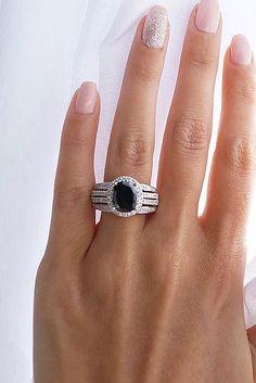 Unique Black Diamond Engagement Rings ★ See more: https://ohsoperfectproposal.com/black-diamond-engagement-rings/ #nails