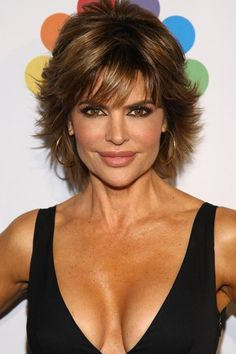 I like this hairstyle.....don't look at the boobs....look at the hair!!!!!!!  Lisa Rinna Layered Razor hairstyle 2013