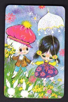 Vintage Swap Card - Cute Couple