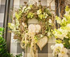 Grapevine Wreath, Grape Vines, Pastel, Wreaths, Spring, Wedding, Home Decor, Valentines Day Weddings, Cake