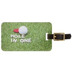 Hole in one with golf ball on grass luggage tag Golf Gifts For Men, Gifts For Golfers, Golf Travel Case, Golf Party Favors, Golf Christmas Gifts, Golf Wedding, Large Gift Bags, Golf Towels, Standard Business Card Size