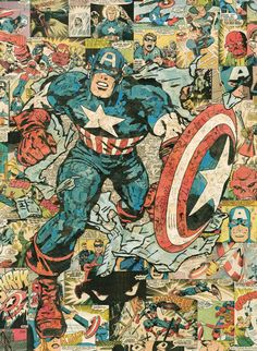 Captain America 18x24 Giclee Print by ComicReliefOriginals on Etsy, $75.00