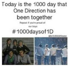 1000 days so proud