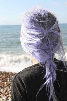 lavender hair. I'm usually not a fan of hair that's died an abnormal color. But this is beautiful!