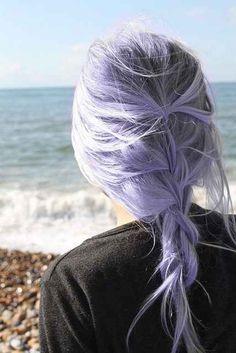 lavender hair.