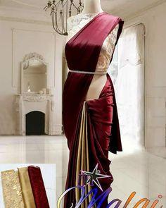 Satin Saree, Silk Satin, Silk Sarees, Blouse Designs, Ship, Fabrics, Free, Instagram, Dresses