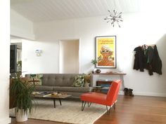 Living Room Style – a 1954 Mid-Century Ranch transformed with Carbonized Bamboo!