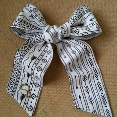 Shabby Chic White and Black Arrow Graphic Purse Scarf by CindiLuv