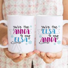 "gifts for sister, best friend mugs ""you are the anna to my elsa"" best friend birthday gift, big sister gifts,birthday gifts for sister MU121 by artRuss on Etsy"