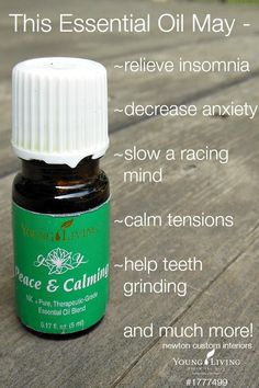 Young Living's Peace and Calming Essential Oils from NewtonCustomInteriors.com #essentialoils