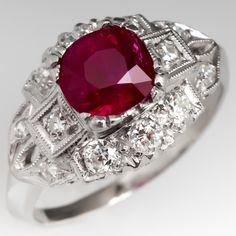 Wedding Engagement Ring Ravishing Rose Cut Diamond Natural Ruby 925 Silver Ring Jewelry & Watches Diamond