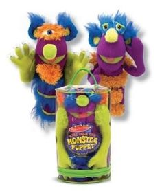 Toys For 4 yr Old Girls: Melissa & Doug Deluxe Fuzzy Make-Your-Own Monster Puppet You and your daughter can play with this for hours and find creative ways of making new horrible faces. Have your own puppet show or  attack each other with them.