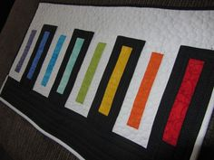 Quilting: Piano Keys - Beyond Basic Machine Quilting  - What a fun quilt!