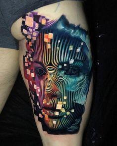 Face tattoo by Boris Tattoo - New Tattoo Models Wörter Tattoos, Bild Tattoos, Great Tattoos, Beautiful Tattoos, Body Art Tattoos, Sleeve Tattoos, Tattoo Ink, Self Made Tattoo, Tattoo Gesicht