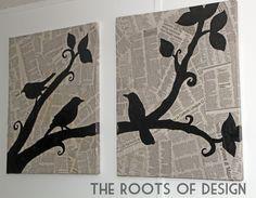 The Roots of Design: DIY Newspaper Art