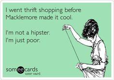thrift shopping