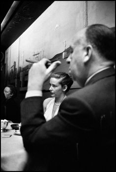 Elliott Erwitt  USA. Vera MILES and Alfred HITCHCOCK